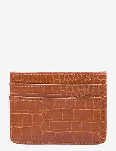 CARDHOLDER MATTE CROCO - purses - ginger bread brown