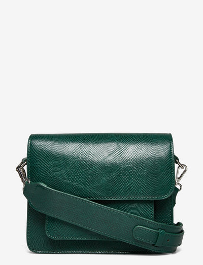CAYMAN POCKET SNAKE - crossbody bags - sea moss green