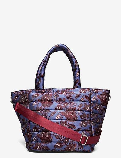 VALLEY MEDIUM JACQUARD - tote bags - tawny port/dark blue