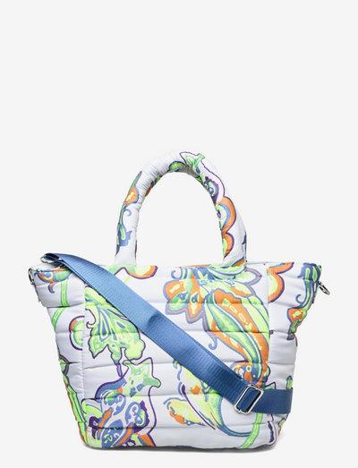 VALLEY MEDIUM BOTEH - tote bags - neon flower