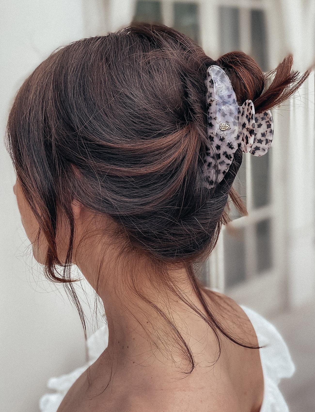 Ia Bon - LARGE HAIR CLAW - TAUPE STAR - hårklämmor - black - 1