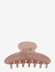 Ia Bon - LARGE HAIR CLAW - ROSÉ GLITTER - håraccessoarer - rosÉ glitter - 0