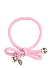 HAIR TIE WITH GOLD BEAD - LIGHT PINK - LIGHT PINK
