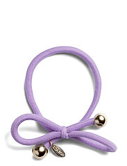 HAIR TIE WITH GOLD BEAD - LILAC - LILAC