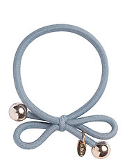 HAIR TIE WITH GOLD BEAD - DUSTY BLUE - DUSTY BLUE