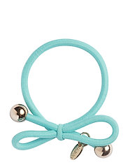 HAIR TIE WITH GOLD BEAD - LIGHT TURQUOISE - LIGHT TURQUOISE