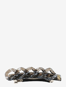 CHAIN CLIP - GREY MARBLE - hårspenner - grey marble