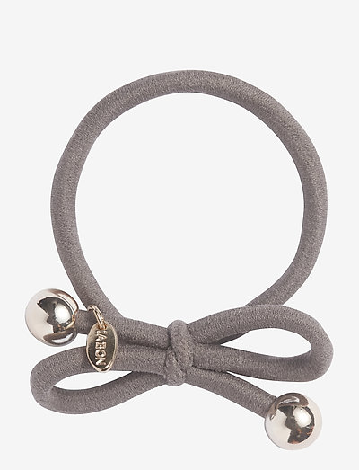 HAIR TIE WITH GOLD BEAD - TAUPE - hår accessories - taupe