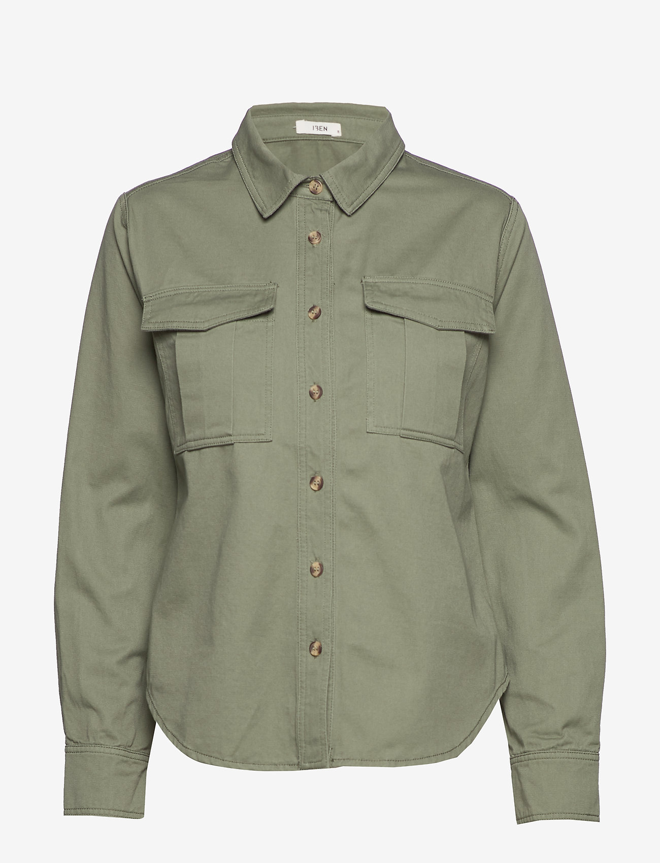 IBEN - Asher Shirt STG - pitkähihaiset paidat - ash green