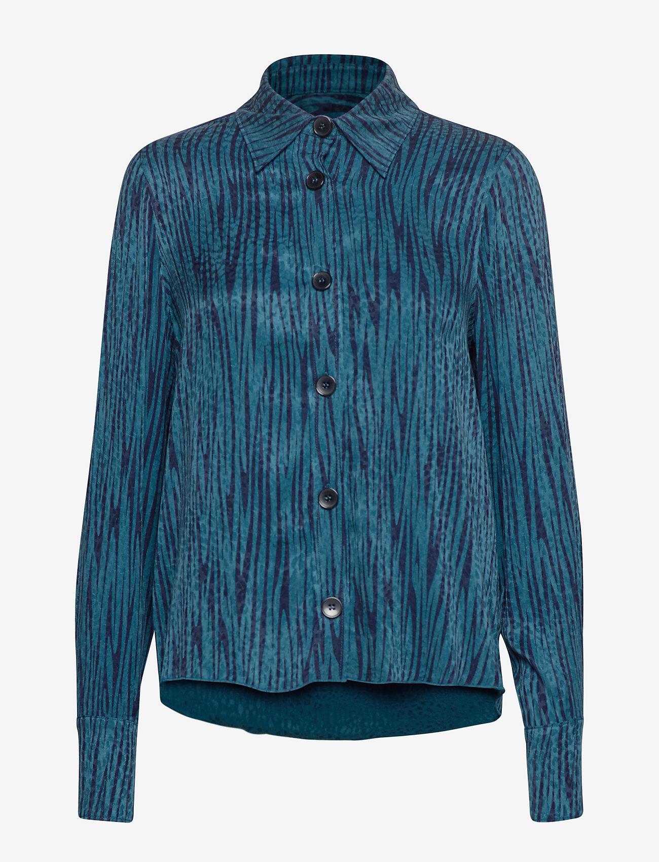 IBEN - Keon Shirt STG - pitkähihaiset puserot - blue iris