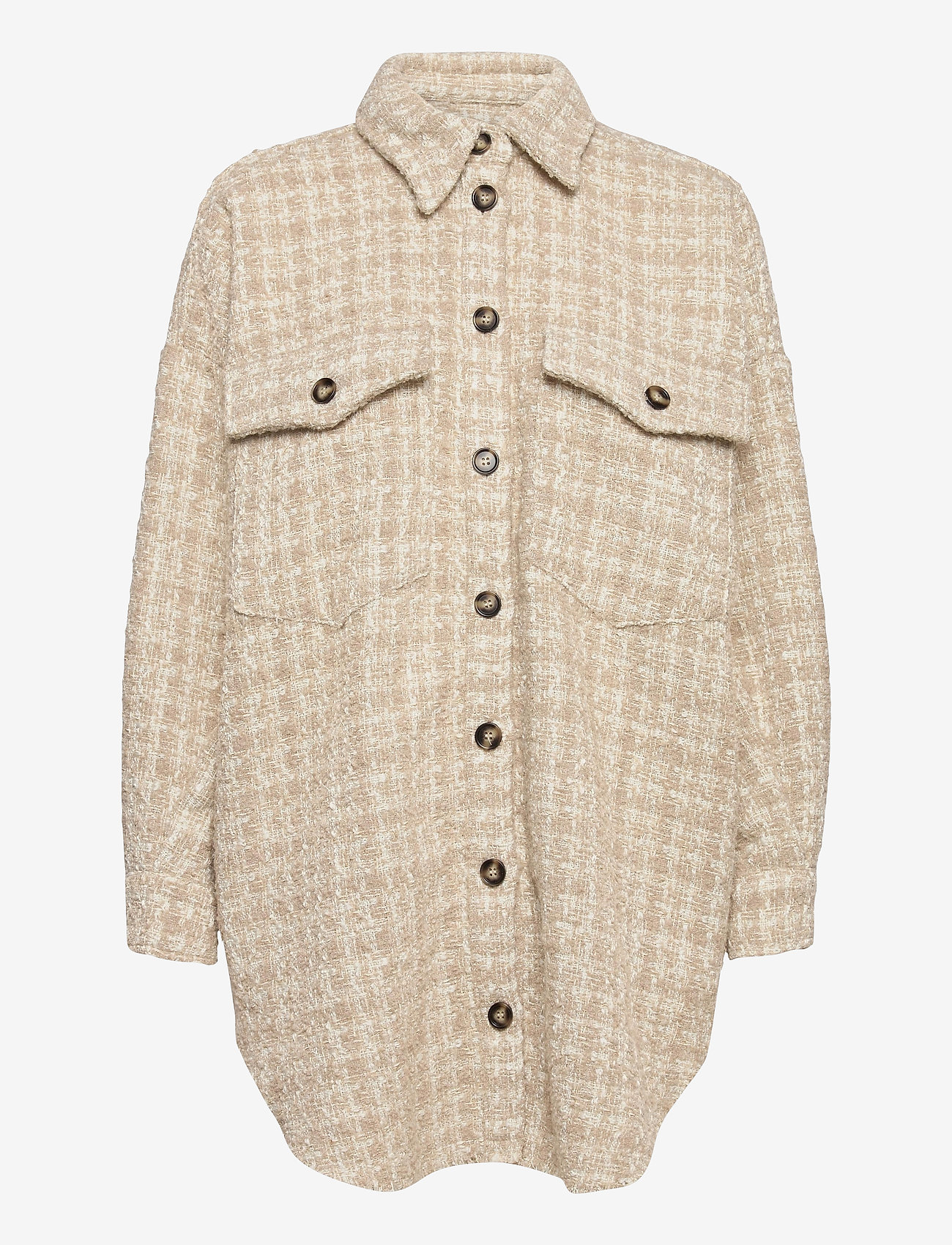 IBEN - Raw Shirt Jacket - overshirts - moonlight - 1
