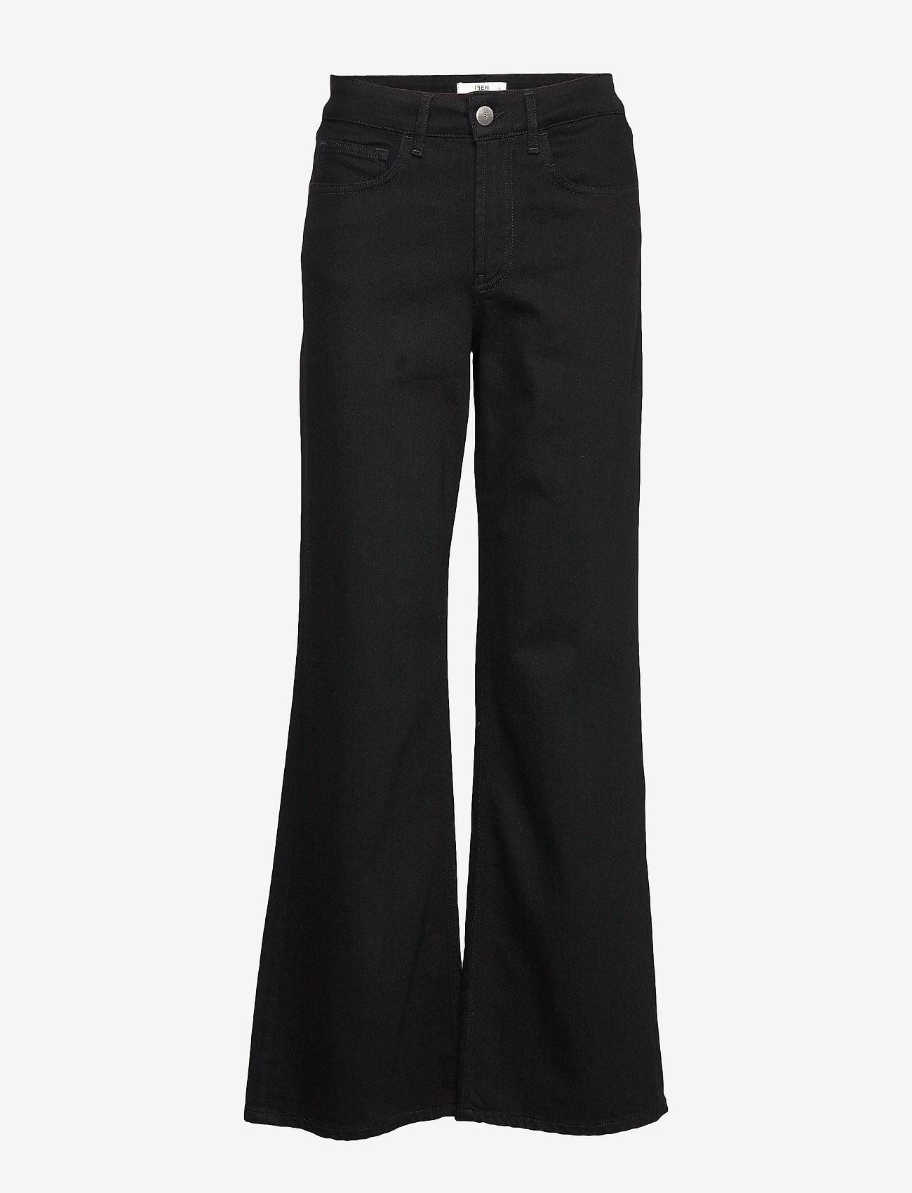 IBEN - Reign Jean STG - broeken met wijde pijpen - washed black - 0