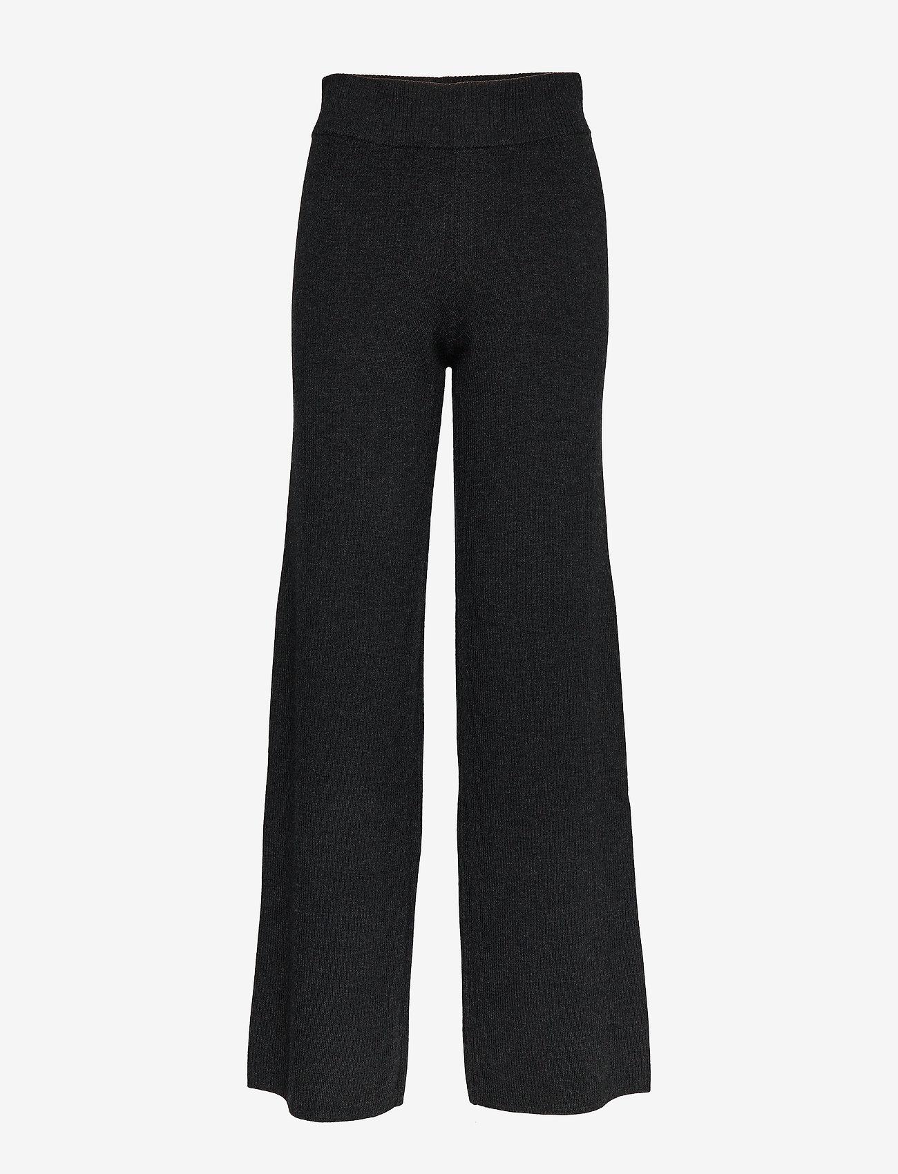 IBEN - Mio Pant STG - leveälahkeiset housut - anthracite