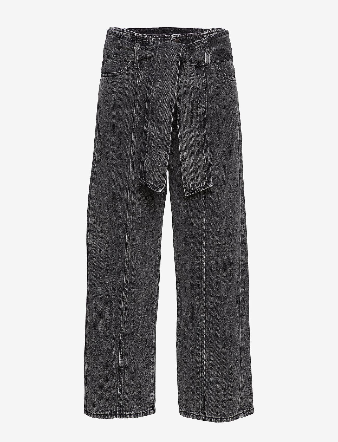 IBEN - Hayden Jean AN - szerokie dżinsy - washed black - 1