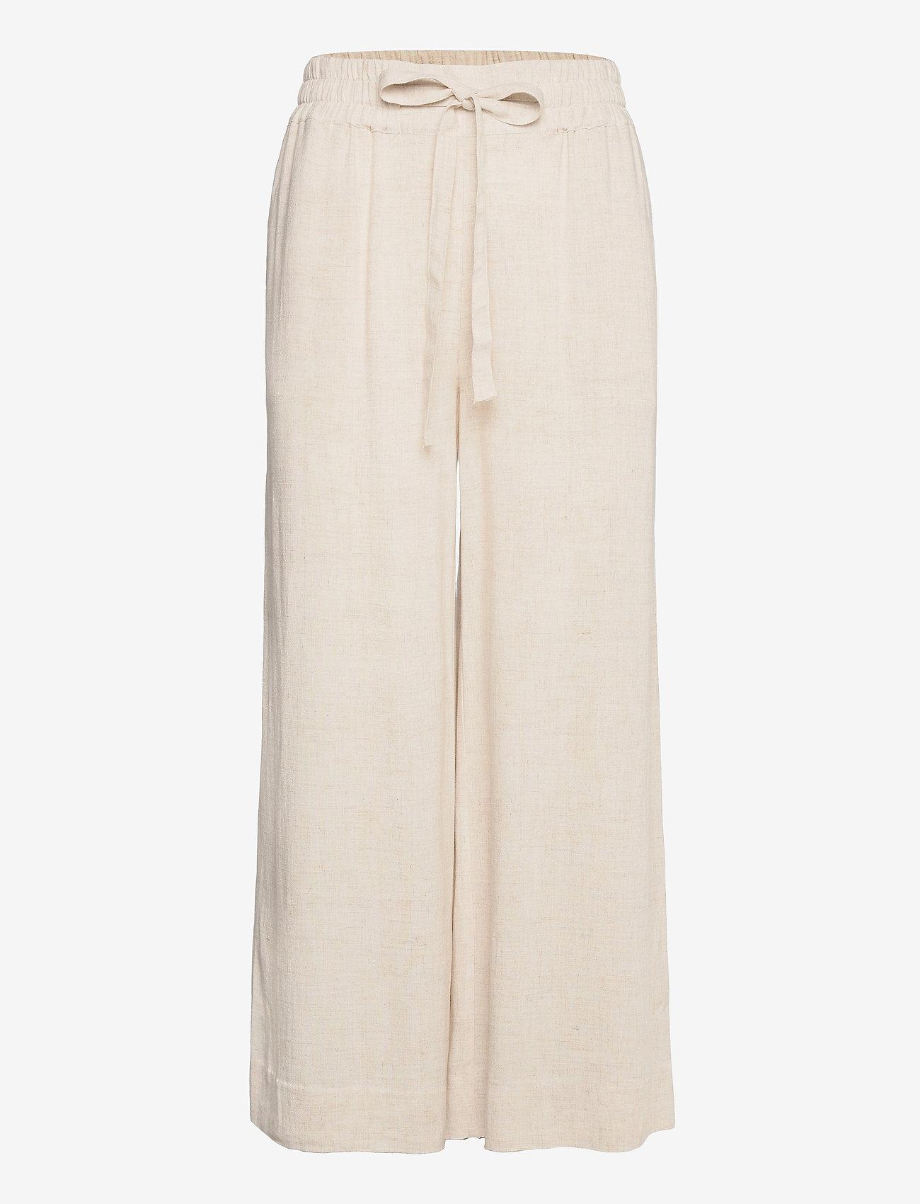 IBEN - Vincente Pant - bukser med brede ben - moonlight - 0