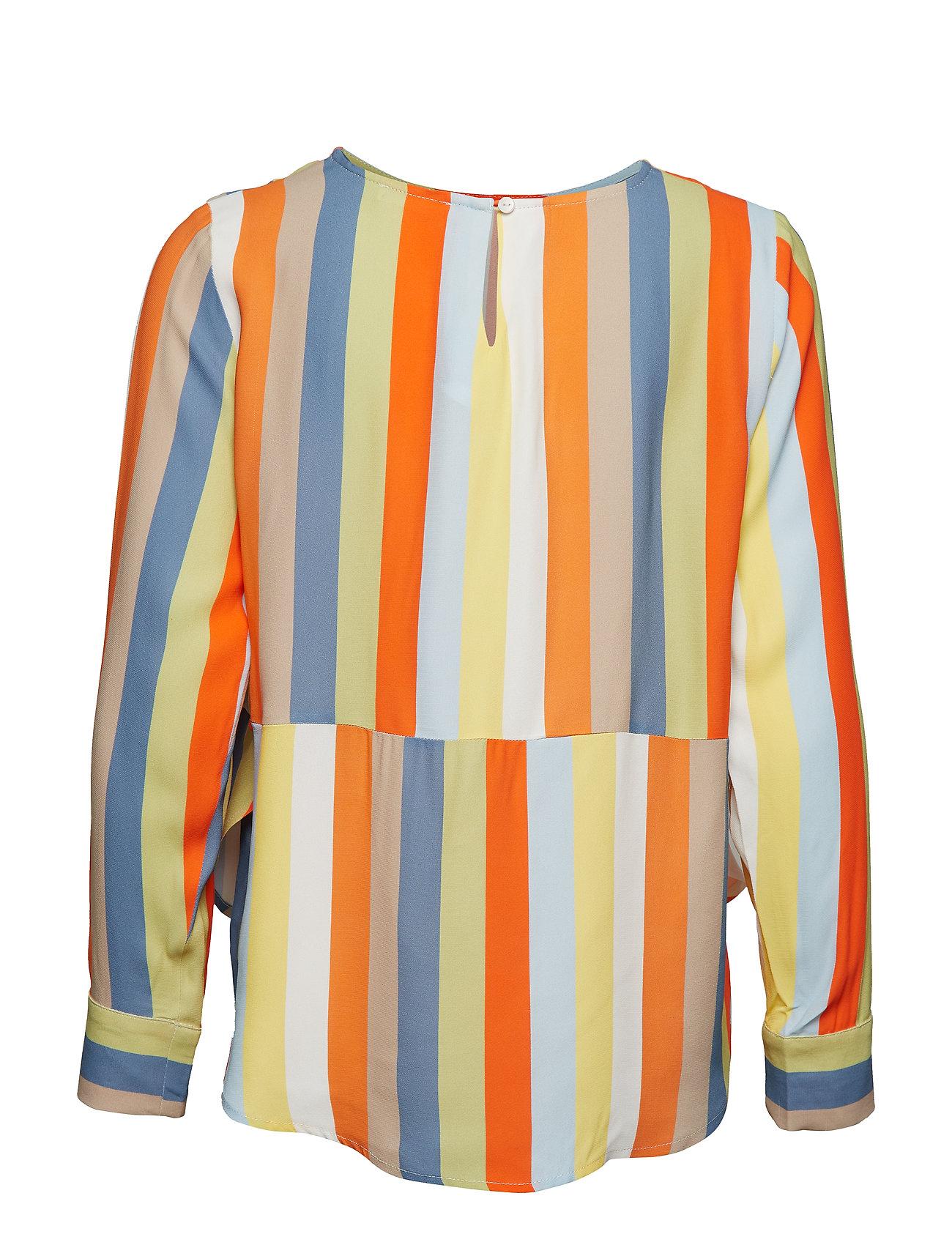 IBEN - Phoenix Top Stripe - long sleeved blouses - off white