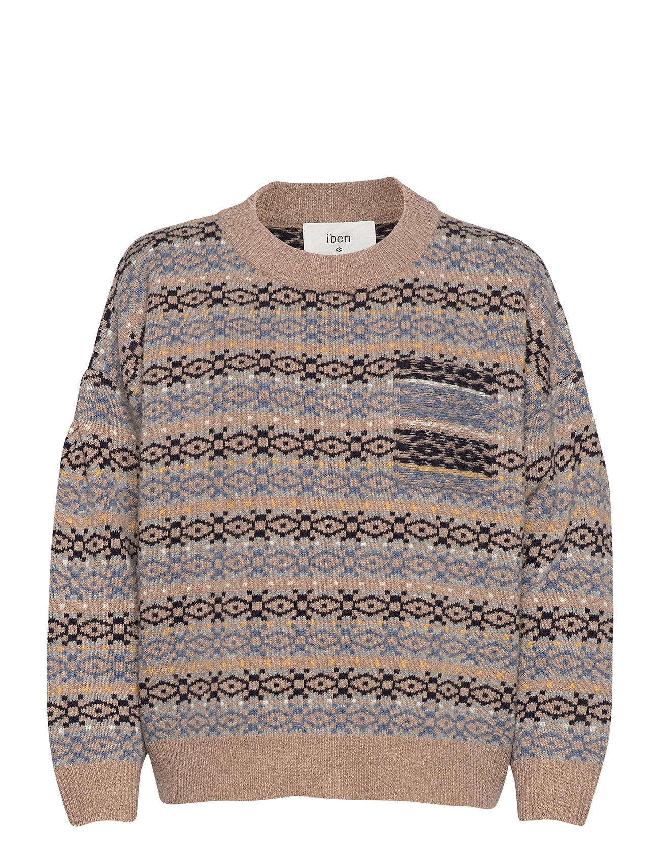 Image of Ean Sweater Wrp Strikket Trøje Blå IBEN (3459863135)