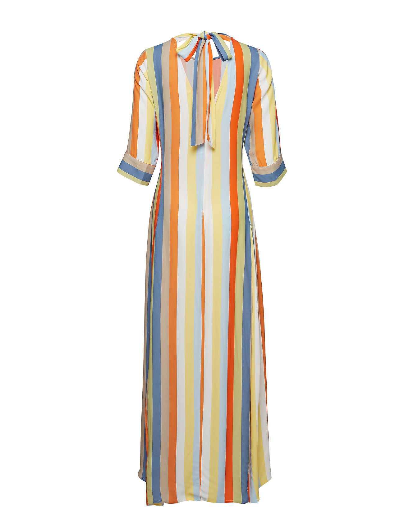IBEN - Phoenix Dress Stripe - maxi dresses - off white