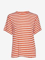 IBEN - Victor Tee - striped t-shirts - flame - 0