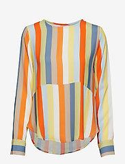 IBEN - Phoenix Top Stripe - long sleeved blouses - off white - 0