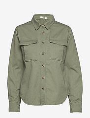 IBEN - Asher Shirt STG - pitkähihaiset paidat - ash green - 0