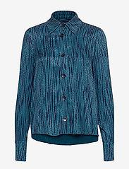IBEN - Keon Shirt STG - pitkähihaiset puserot - blue iris - 1