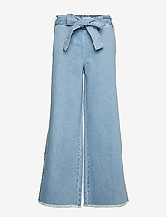 IBEN - Rove Pant - wide leg trousers - medium blue - 0