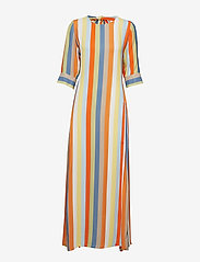 IBEN - Phoenix Dress Stripe - maxi dresses - off white - 0