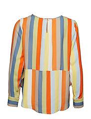 IBEN - Phoenix Top Stripe - long sleeved blouses - off white - 1