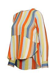 IBEN - Phoenix Top Stripe - long sleeved blouses - off white - 2