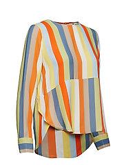 IBEN - Phoenix Top Stripe - long sleeved blouses - off white - 3