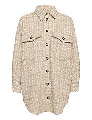 Raw Shirt Jacket - MOONLIGHT