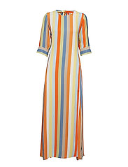 Phoenix Dress Stripe - OFF WHITE