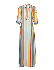 IBEN - Phoenix Dress Stripe - maxi dresses - off white - 1