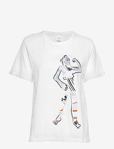 Bo Logo Tee - t-shirts imprimés - white
