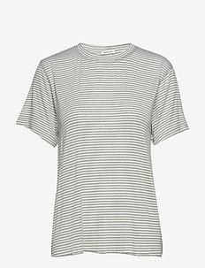 Victor Tee - t-shirts à rayures - khaki