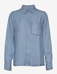 Nole Shirt AWN - chemises en jeans - m.blue