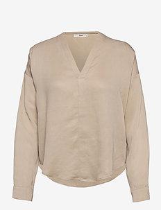 Natan Shirt WRP - blouses med lange mouwen - moonlight