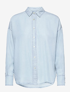 Dimo Shirt - jeansblouses - clear blue