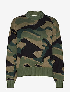 Camo Sweater ST - pulls - army