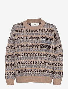 Ean Sweater WRP - truien - blue mirage