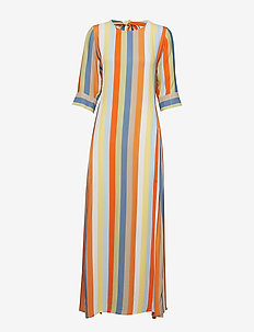 Phoenix Dress Stripe - robes maxi - off white