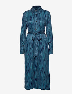 Keon Dress STG - shirt dresses - blue iris