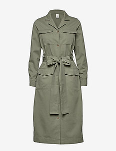 Asher Dress Jacket STG - shirt dresses - ash green