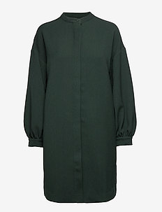 Viggo Dress ST - shirt dresses - pine green