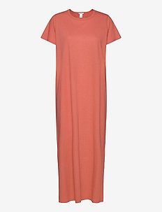 Juke Long Dress AN - midi jurken - burnt sienna