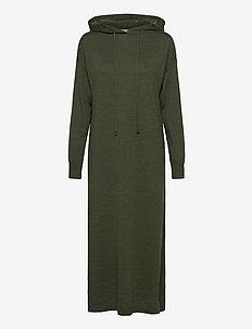 Mac Hoodie Dress WRP - maxi kjoler - forest