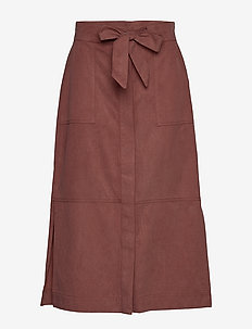 Thiago Skirt AN - jupes midi - red ochre