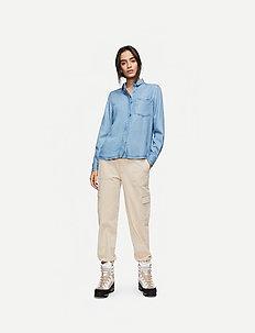 Nole Shirt AWN - jeansowe koszule - m.blue