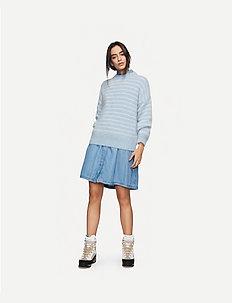 Albert Sweater AWN - swetry - blue surf